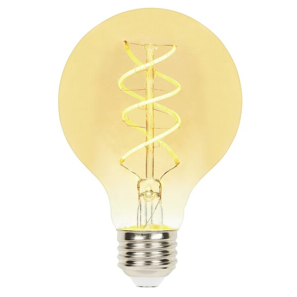 5W E26 Dimmable LED Edison Globe Light Bulb Amber by Westinghouse Lighting