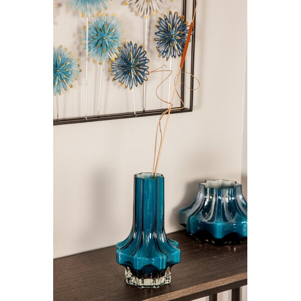 Highsmith Contemporary Faceted Glass Table Vase by Wrought Studio