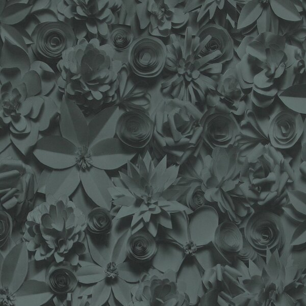 32.97 x 20.8 3D Embossed Floral and botanical Wallpaper by Walls Republic