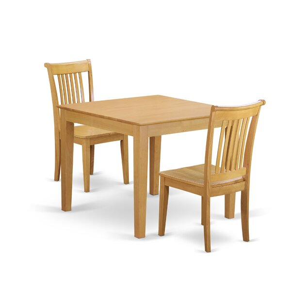 Cobleskill 3 Piece Breakfast Nook Solid Wood Dining Set By Alcott Hill Great price