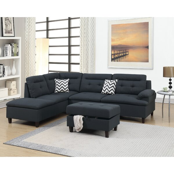 Turnalar Left Hand Facing Sectional With Ottoman By Latitude Run