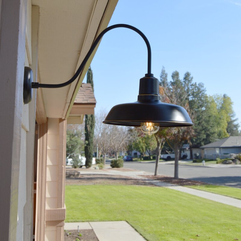 Ebern Designs Chenier 1-Light Outdoor Barn Light & Reviews