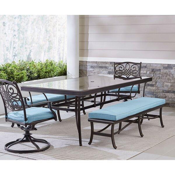 Premont 5 Piece Dining Set with Cushions by Fleur De Lis Living