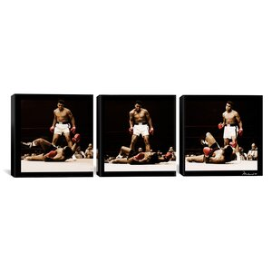 Muhammad Ali Vs. Sonny Liston 3 Piece Photographic Print on Wrapped Canvas Set by iCanvas
