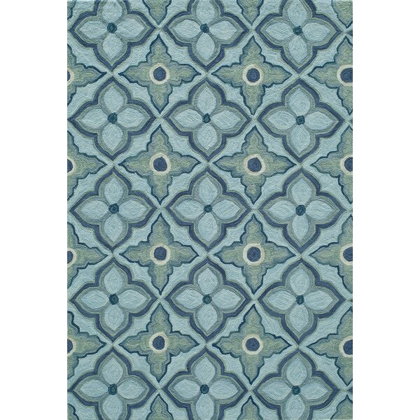 Indigo Hand-Woven Blue Area Rug by Bungalow Rose