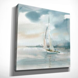 'Subtle Mist I' by Carol Robinson Painting Print on Wrapped Canvas by Wexford Home