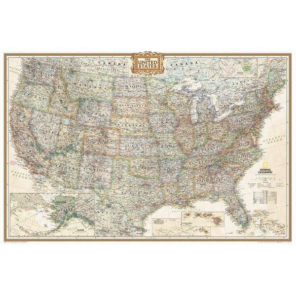 United States Executive Wall Map by National Geographic Maps