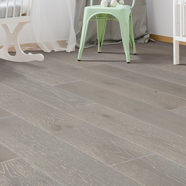Coastal Allure 7 Engineered Oak Hardwood Flooring in Compass Gray by Mohawk Flooring