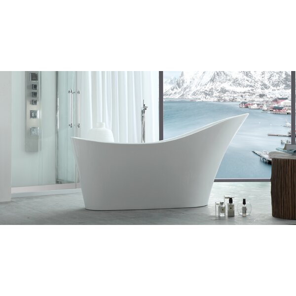 HelixBath Caracalla 66.9 x 28.7 Freestanding Soaking Bathtub by Kardiel