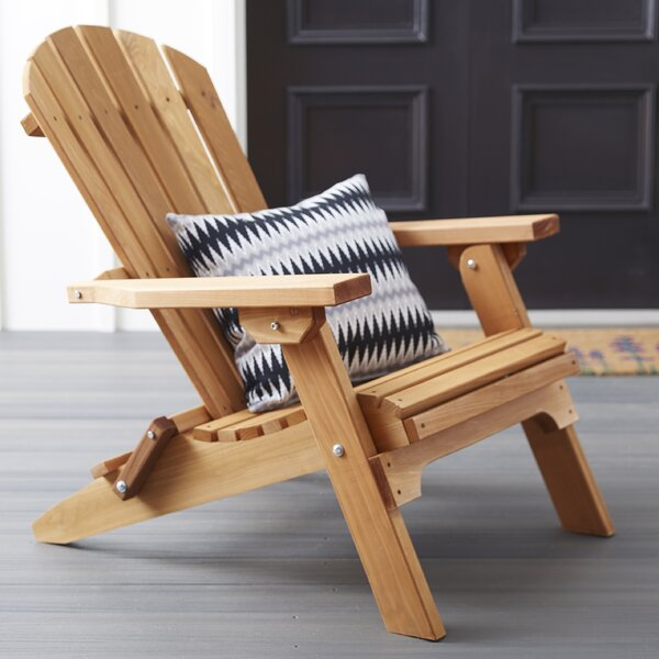 Tustin Solid Wood Folding Adirondack Chair by Loon Peak Loon Peak