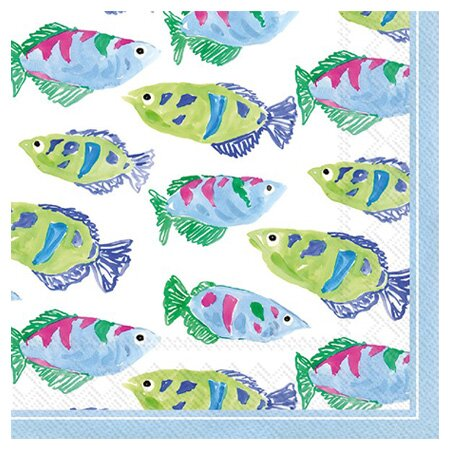 Reef Cocktail Napkin (Set of 2) by Boston International