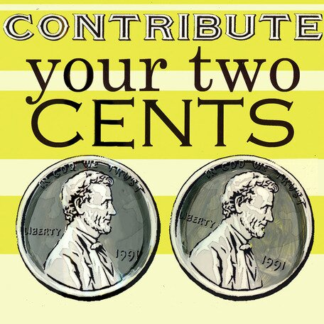 Contribute Your Two Cents Canvas Art by Oopsy Daisy