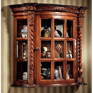 Cardington Square Manor Curio Accent Cabinet