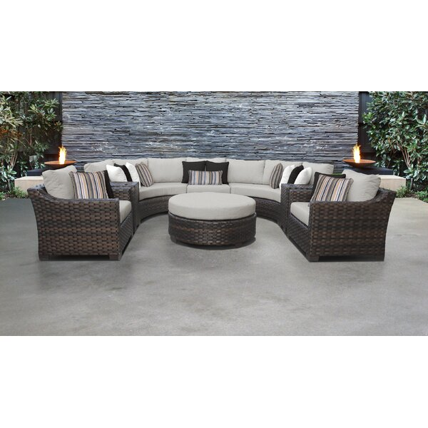 kathy ireland Homes & Gardens River Brook 8 Piece Sectional Seating Group by TK Classics
