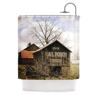 Mail Pouch Barn Shower Curtain ByEast Urban Home