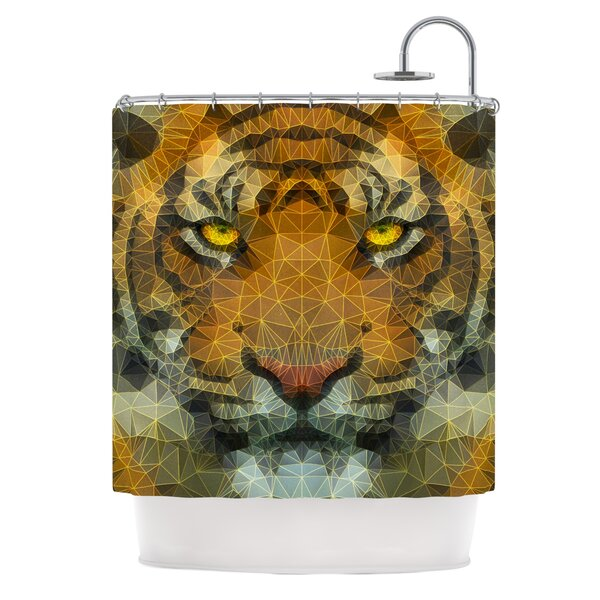 Be Wild by Ancello Geometric Shower Curtain by East Urban Home