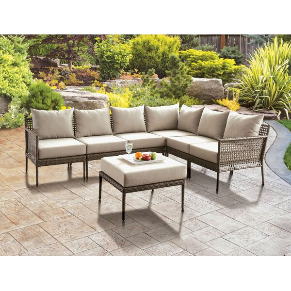 Eisenbarth Patio 6 Piece Sectional Seating Group with Cushions by Latitude Run Latitude Run