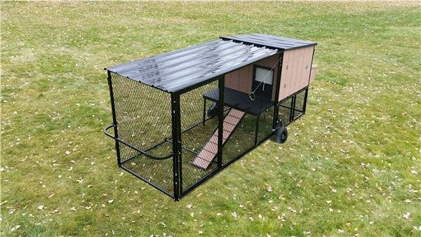 Mobile Urban Coop with Chicken Run by K9 Kennel