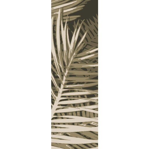 Fort Hand-Tufted Olive Forest/Beige/Black Indoor/Outdoor Area Rug by Bay Isle Home