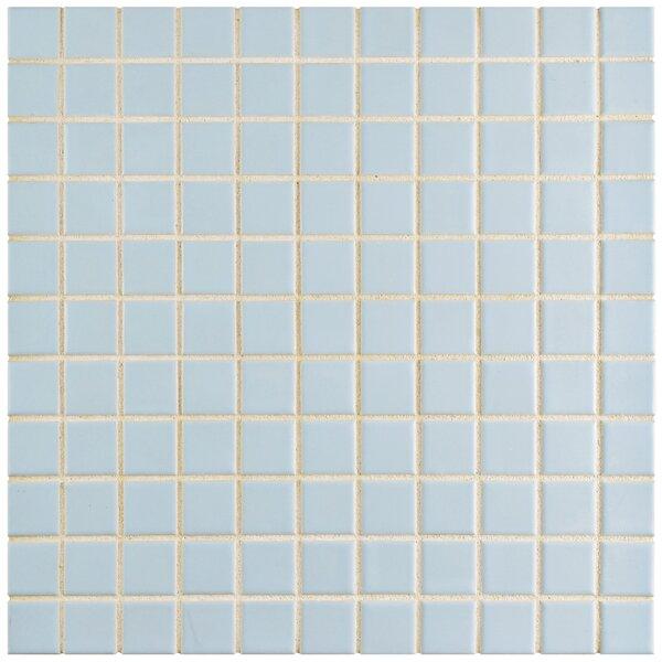 Retro 1 x 1 Porcelain Mosaic Tile in Matte Light by EliteTile