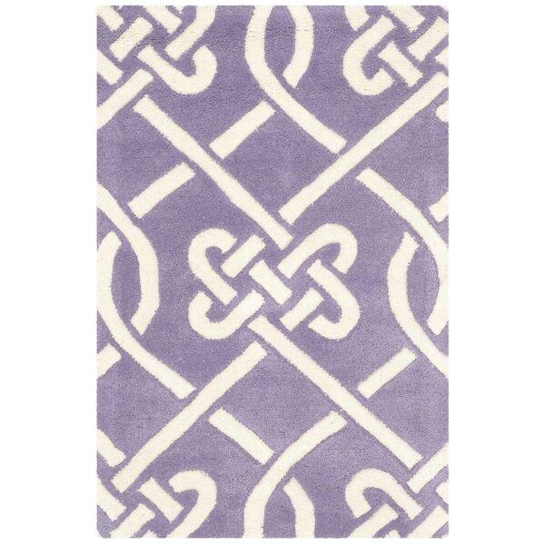 Wilkin Purple / Ivory Area Rug by Wrought Studio