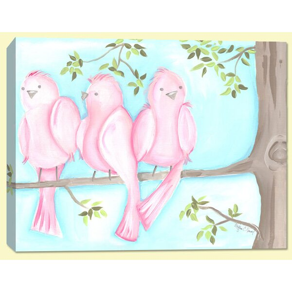 Birds and Bunnies Songbirds Two Canvas Art by Doodlefish
