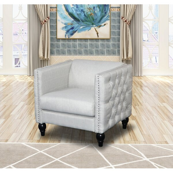 Callahan Crystal Linen Armchair By House Of Hampton