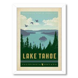 National Park Lake Tahoe Framed Vintage Advertisement by East Urban Home