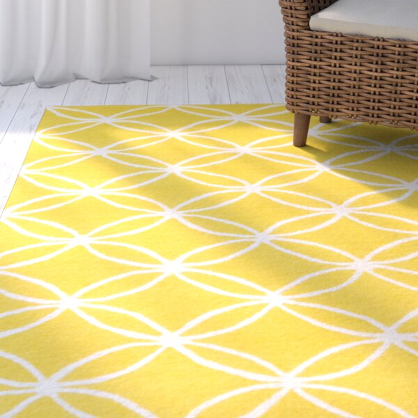 Charthouse Hand-Tufted Yellow Area Rug by Rosecliff Heights