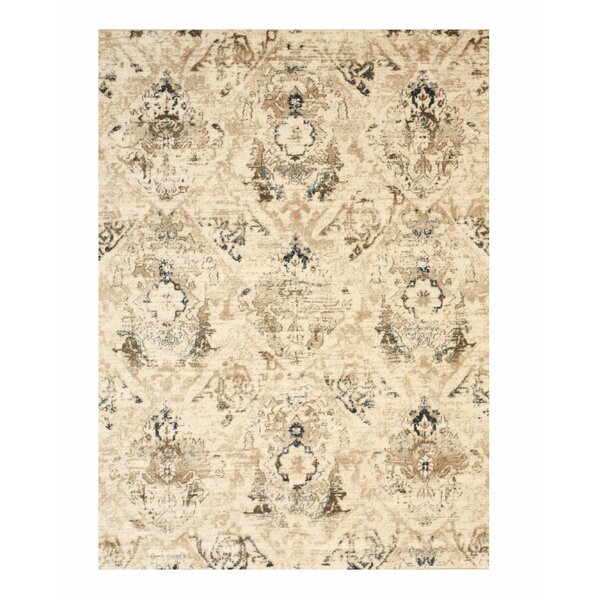 Lecuyer Distressed Ivory Area Rug by Ophelia & Co.