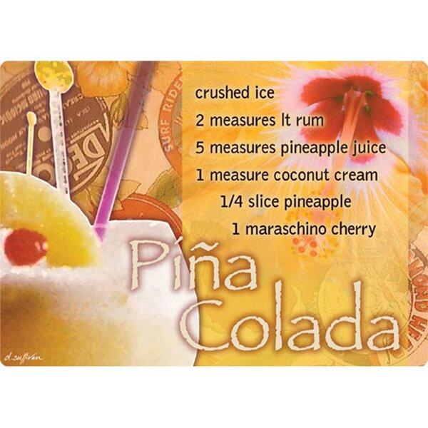 5 x 7 Pina Colada Design Cutting Board by Magic Slice