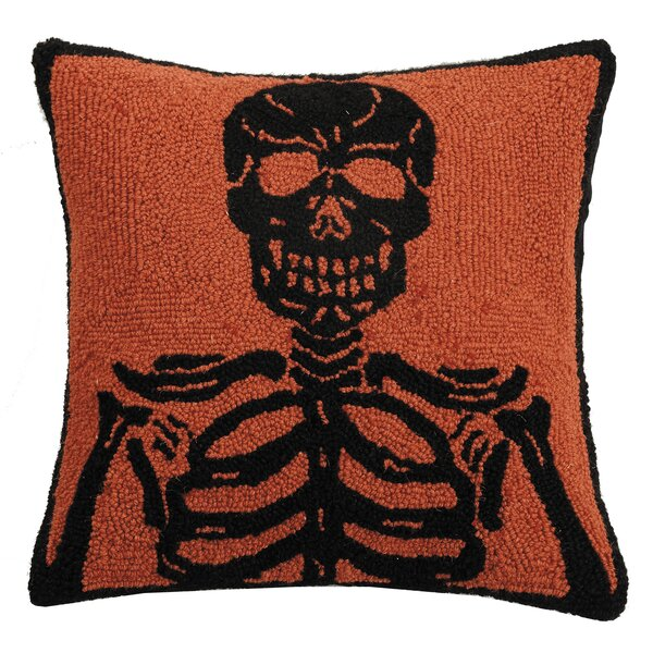 Mckillip Skeleton Hook Wool Throw Pillow by The Holiday Aisle