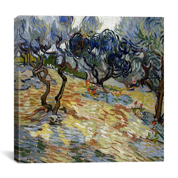 Olive Trees by Vincent van Gogh Painting Print on Canvas by iCanvas