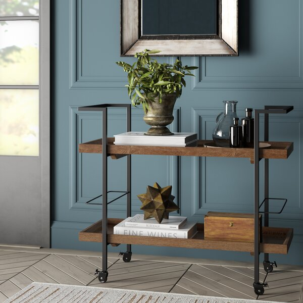 Drucilla Wooden Bar Cart By Williston Forge Today Sale Only