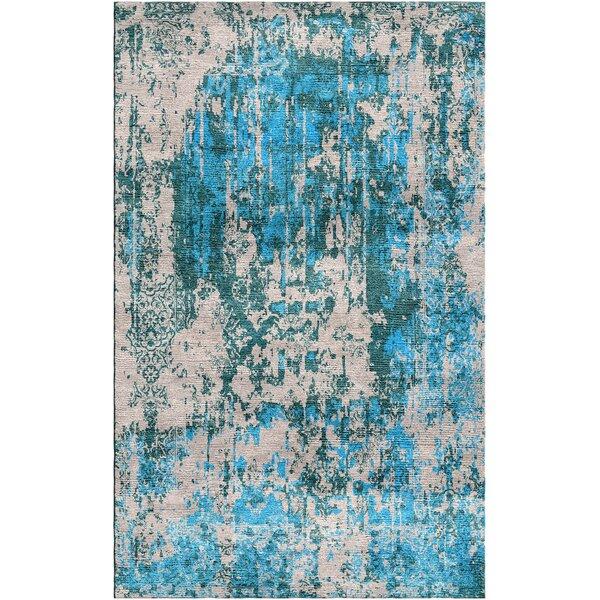 Aliza Handloom Blue/Beige Area Rug by Bungalow Rose
