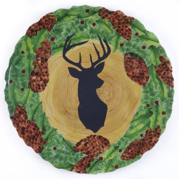 Beltrami Shaffer Melamine Stag/Wreath Platter by Loon Peak