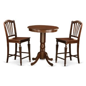 Eden 3 Piece Counter Height Pub Table Set by East West Furniture