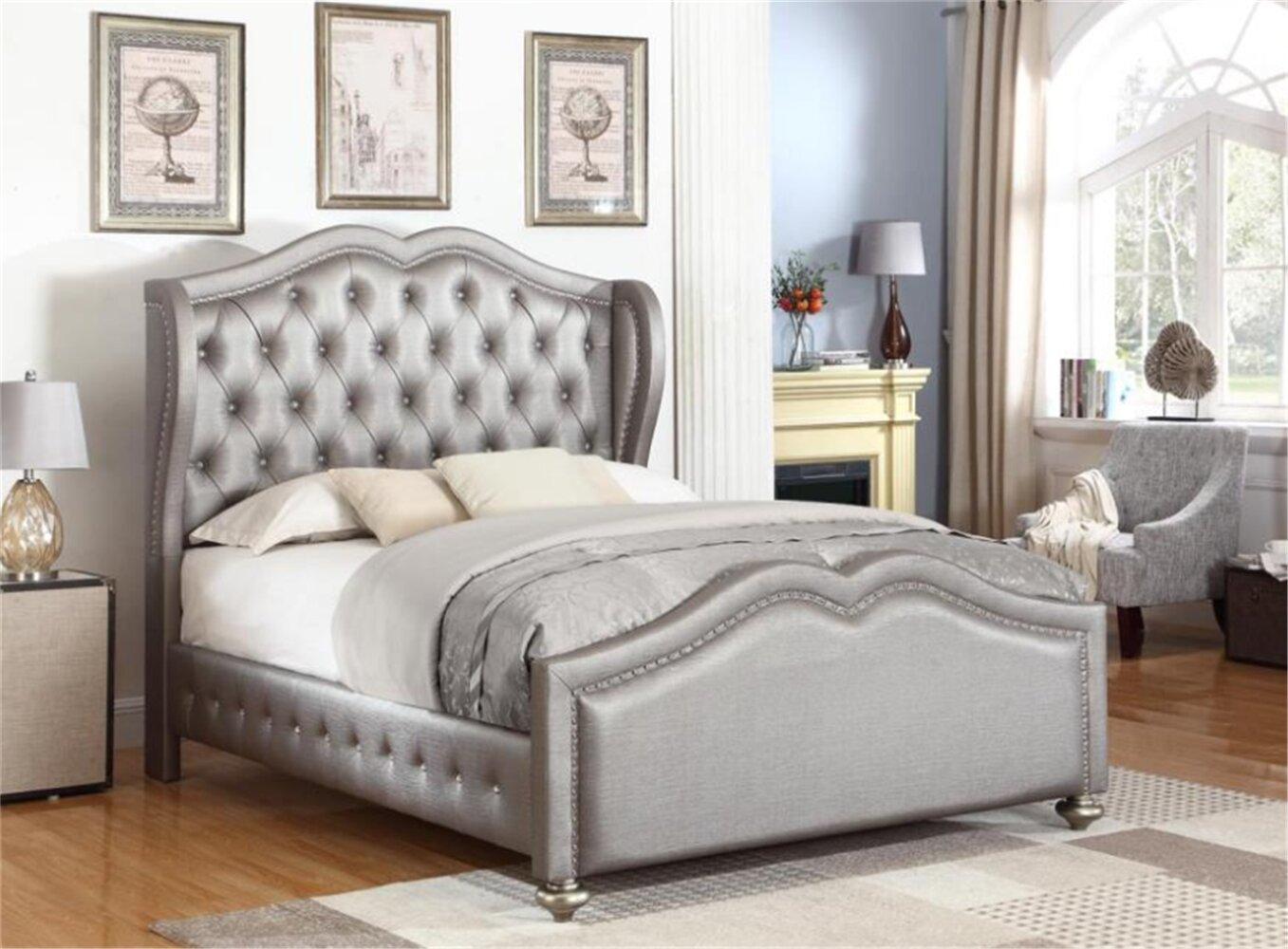 Rosdorf Park Marybella Dover Fully Upholstered Standard Bed Wayfair