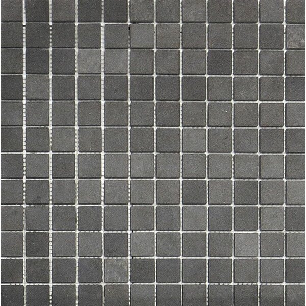 Lava 1 x 1 Stone Mosaic Tile in Black Honed by Parvatile