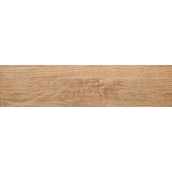 Woodwork 6 x 24 Porcelain Wood Look/Field Tile in Bend by Emser Tile