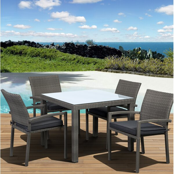 Finola 5 Piece Dining Set With Cushion By Beachcrest Home