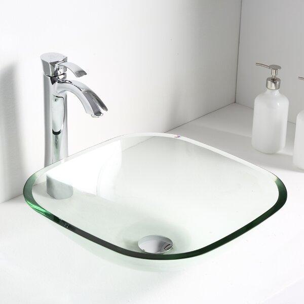 Cadenza Glass Circular Vessel Bathroom Sink by ANZ