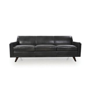 Ari Mid Century Modern Leather Sofa