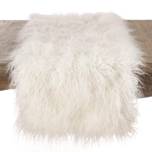 Pataskala Faux Fur Table Runner