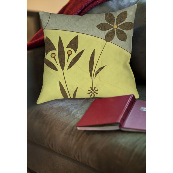 Graphic Garden Selene Printed Throw Pillow by Manual Woodworkers & Weavers