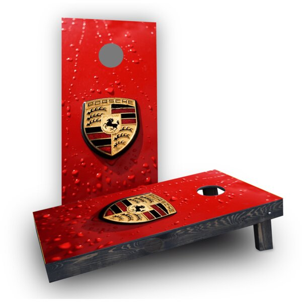 Porsche Logo Cornhole Boards (Set of 2) by Custom Cornhole Boards
