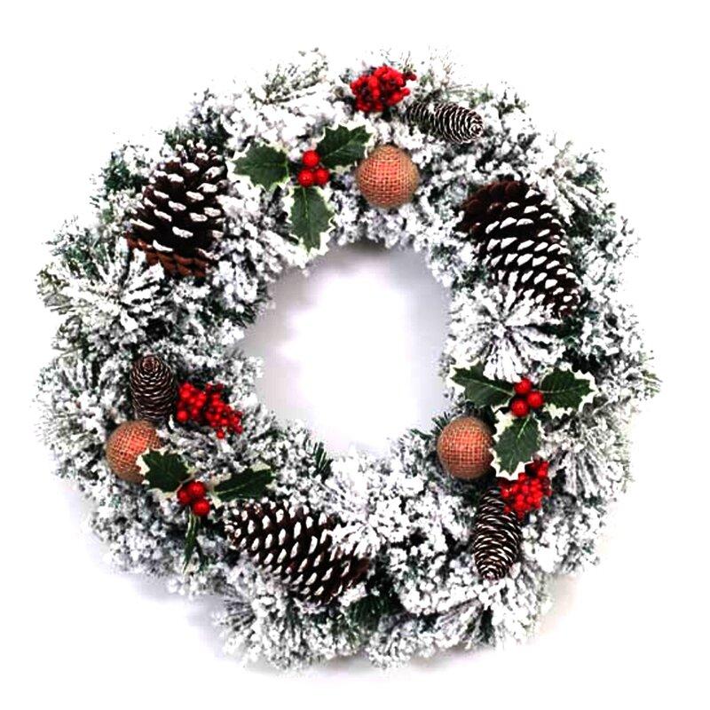 "17/"" Christmas Artificial PVC Wreath Vine Wedding Green for Xmas Party Decoration"
