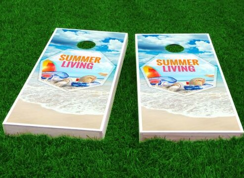Beach Cornhole Game (Set of 2) by Custom Cornhole Boards