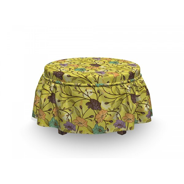 Rural Floral Woodland Ottoman Slipcover (Set Of 2) By East Urban Home
