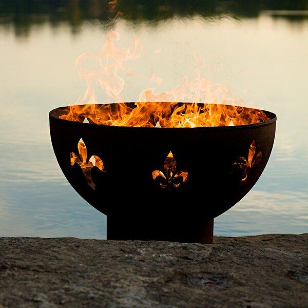 Fleur de Lis Fire Pit by Fire Pit Art